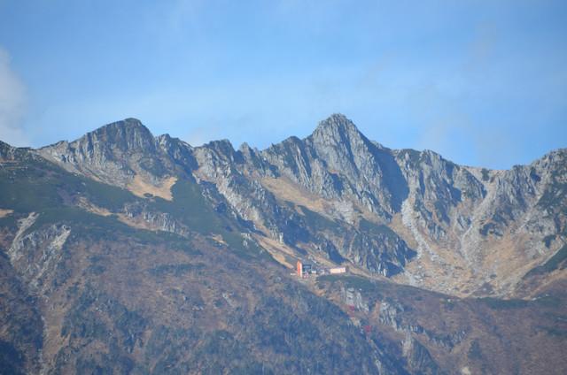池山からの眺め 木曽駒ヶ岳 宝剣岳 千畳敷カール