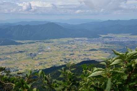 荒島岳 下山 大野市の田園風景