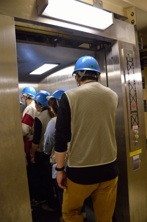 明石海峡大橋 ブリッジワールド エレベータの入り口