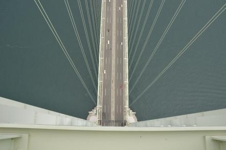 明石海峡大橋 ブリッジワールド 真下の風景