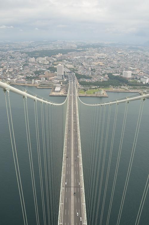 明石海峡大橋 ブリッジワールド 頂上からの展望