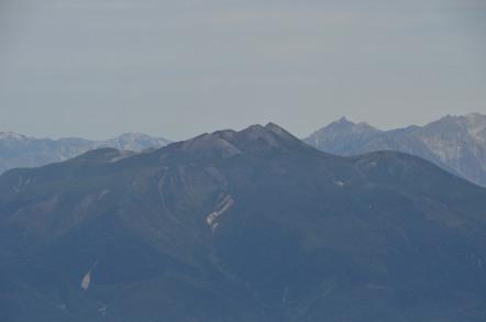 御嶽山から見た乗鞍岳 剣岳 穂高