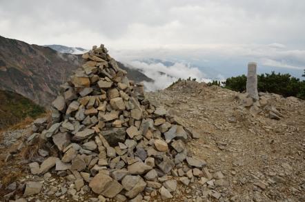 五竜岳 白岳 分岐