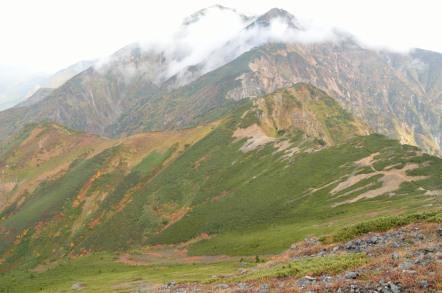 五竜岳 唐松岳方面