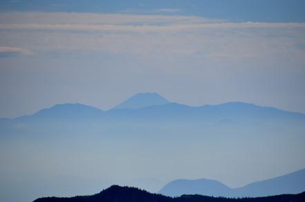 横手山山頂 富士山