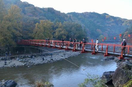 香嵐渓 吊り橋 香嵐橋