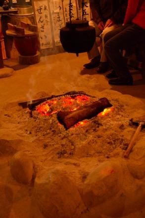 香嵐渓 川見茶屋 囲炉裏
