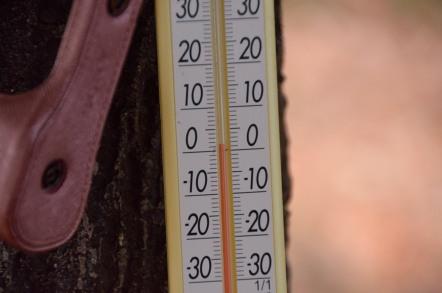 鳩吹山展望台 気温計
