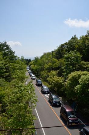 茶臼山高原 渋滞