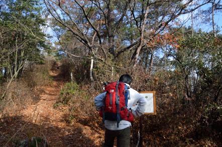 石原口登山道 西山ルート 北側ルート