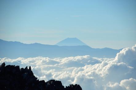 木曽駒ヶ岳 富士山