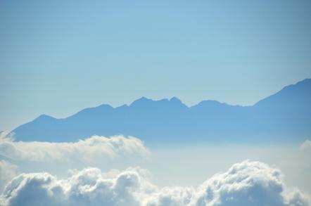 木曽駒ヶ岳 千畳敷カールからの南アルプス 鋸岳
