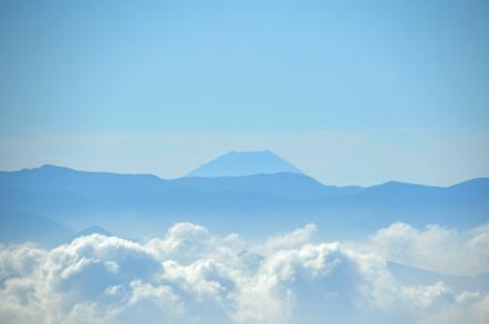 木曽駒ヶ岳 千畳敷カールからの南アルプス 富士山