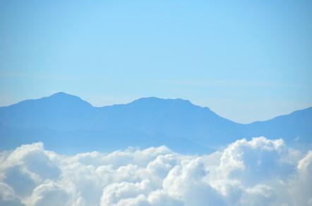 木曽駒ヶ岳 千畳敷カールからの南アルプス 東岳 荒川岳
