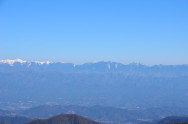 富士見台高原から南アルプス