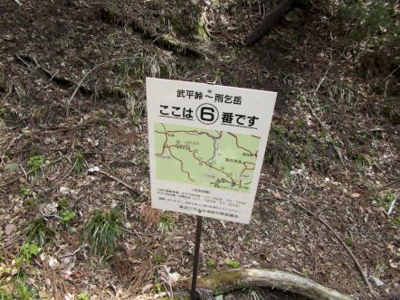 雨乞岳 登山 武平峠コース 6番