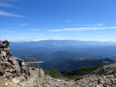 御嶽山 中央アルプス方面