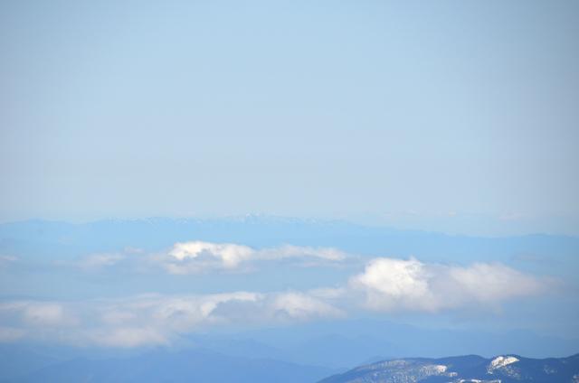 木曽駒ヶ岳 山頂からの眺め 鈴鹿山脈 竜ヶ岳 藤原岳