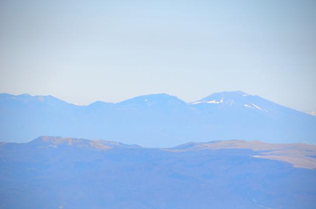 木曽駒ヶ岳 山頂からの眺め 浅間山