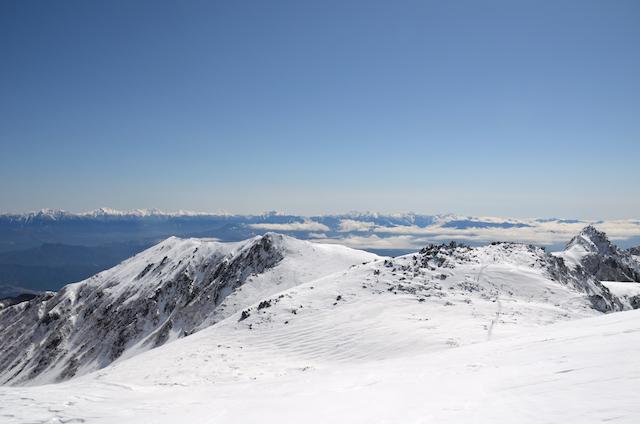 木曽駒ヶ岳 山頂からの眺め 南アルプス方面