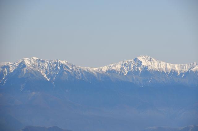 木曽駒ヶ岳 山頂からの眺め 仙丈ヶ岳 北岳