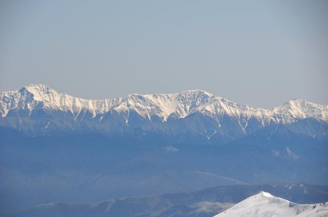 木曽駒ヶ岳 山頂からの眺め 北岳 間ノ岳 農鳥岳