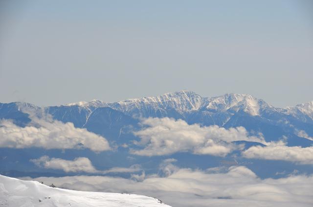木曽駒ヶ岳 山頂からの眺め 赤石岳