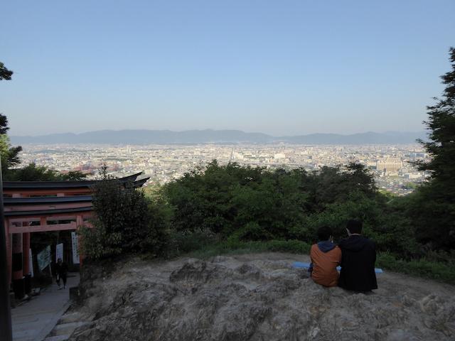 京都一周トレイル 東山コース 道標番号3-1 稲荷山 展望台