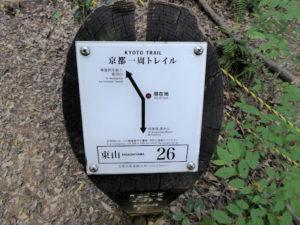 京都一周トレイル 東山コース 道標番号26