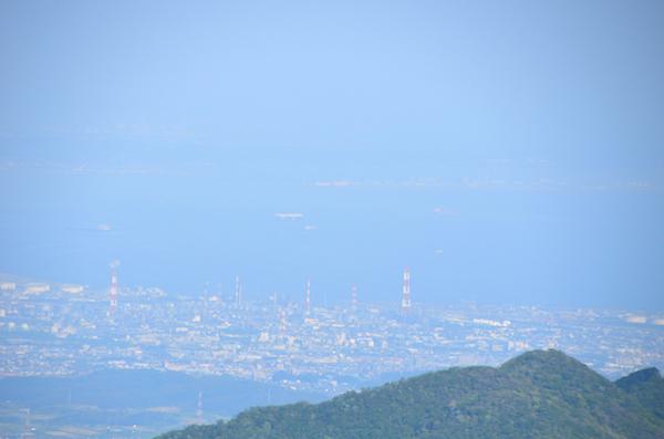 東雨乞岳 山頂からの眺め セントレア