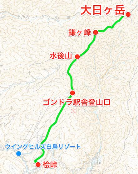 大日ヶ岳 登山コース