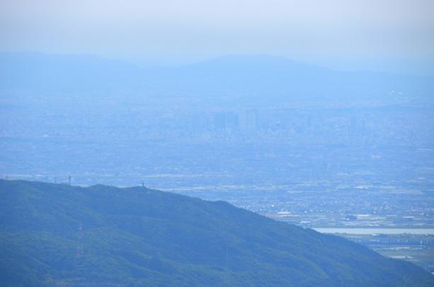 竜ヶ岳 山頂からの眺め 名古屋市方面
