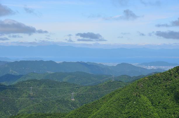 竜ヶ岳 山頂からの眺め 琵琶湖
