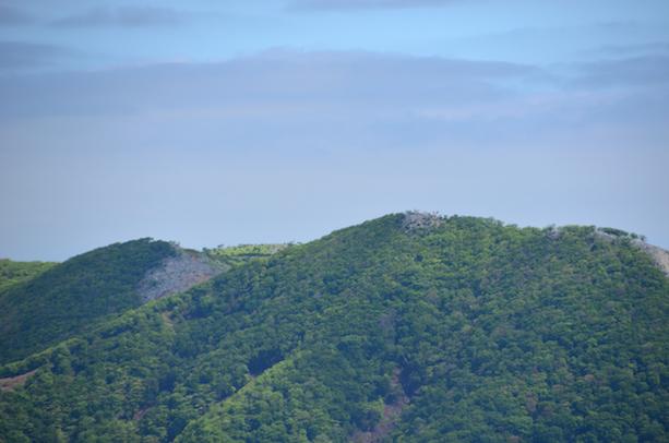 竜ヶ岳 山頂からの眺め 藤原岳