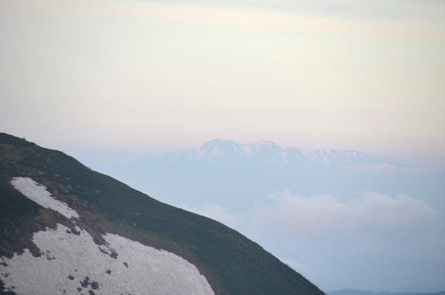立山三山縦走 雷鳥坂 白山方面