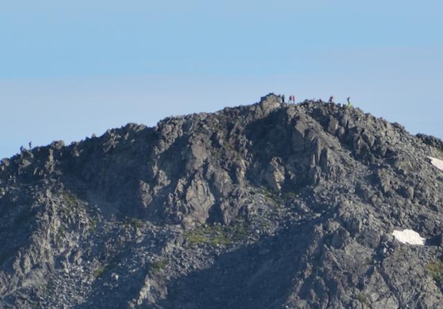立山三山 別山北峰 剱岳山頂方面