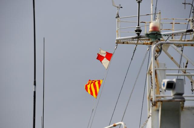 第四管区総合訓練 巡視船みずほ 2字信号