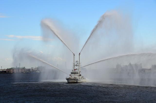 第四管区総合訓練 放水展示訓練 巡視艇 PC58 あおたき