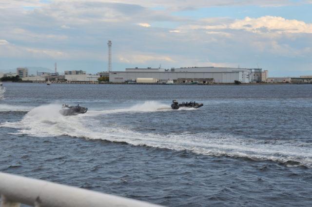 第四管区総合訓練 高速機動連携訓練 複合型ゴムボート