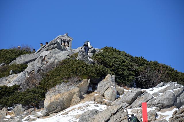 甲斐駒ヶ岳 六方石〜山頂