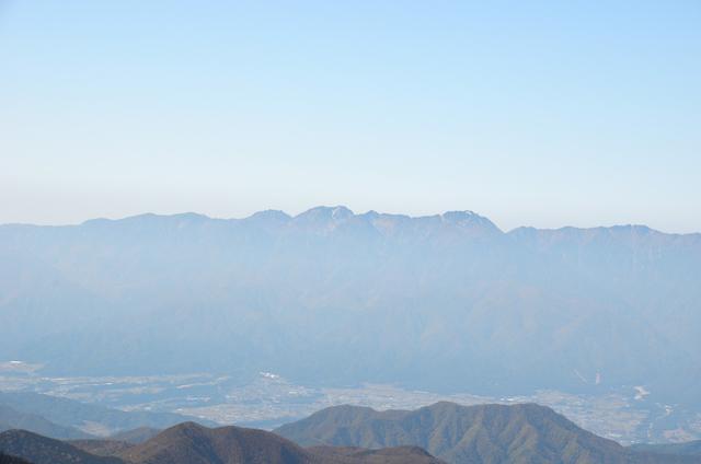 甲斐駒ヶ岳からの眺め 空木岳 南駒ヶ岳
