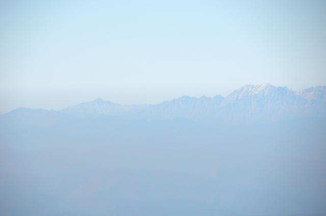 甲斐駒ヶ岳からの眺め 焼岳 笠ヶ岳 西穂高岳