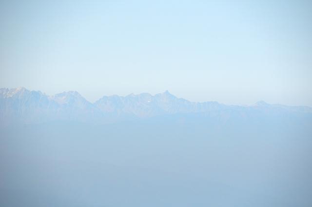 甲斐駒ヶ岳からの眺め 南岳 大喰岳 槍ヶ岳