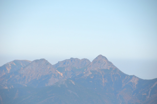 甲斐駒ヶ岳からの眺め 赤岳 横岳 硫黄岳 権現岳
