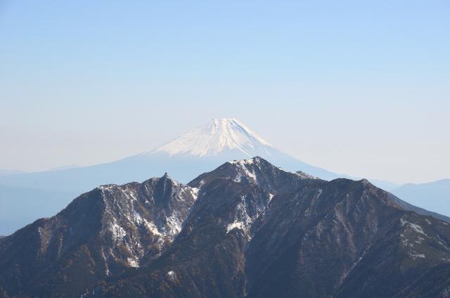 甲斐駒ヶ岳からの眺め 富士山 鳳凰三山