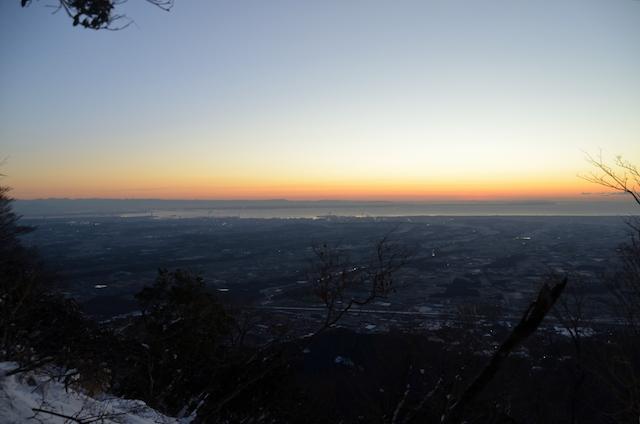 入道ヶ岳 夜明け前