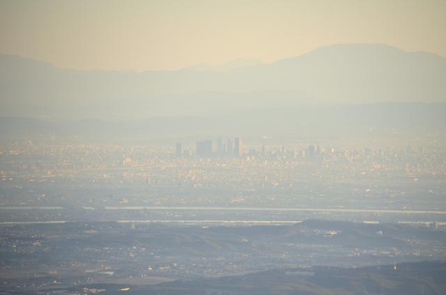 入道ヶ岳 山頂からの眺め 名古屋駅 木曽駒ヶ岳