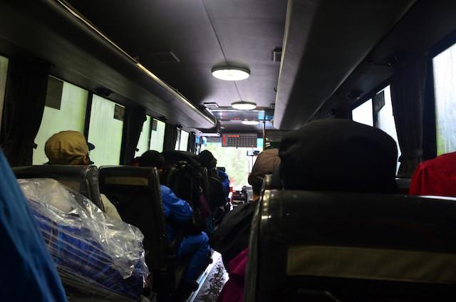 屋久島 縦走 安房から紀元杉行きバス
