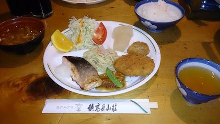 穂高岳山荘 夕食