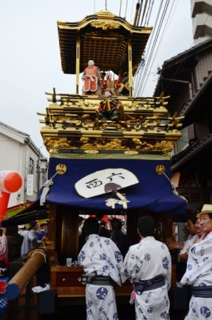 尾張西枇杷島祭り 紅塵車(こうじんしゃ) 西六軒町